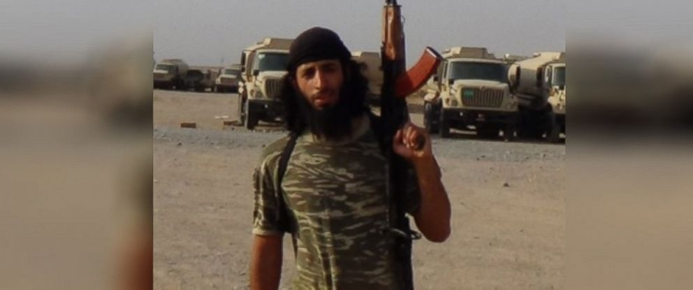 "PHOTO: Mohammed Emwazi, also known as ""Jihadi John"", appears unmasked in ISIS photos."
