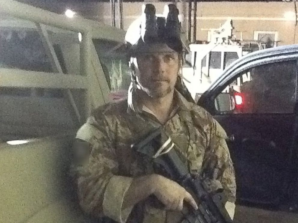 PHOTO: Brett Jones on one of dozens of deployments as a contractor for the CIA.