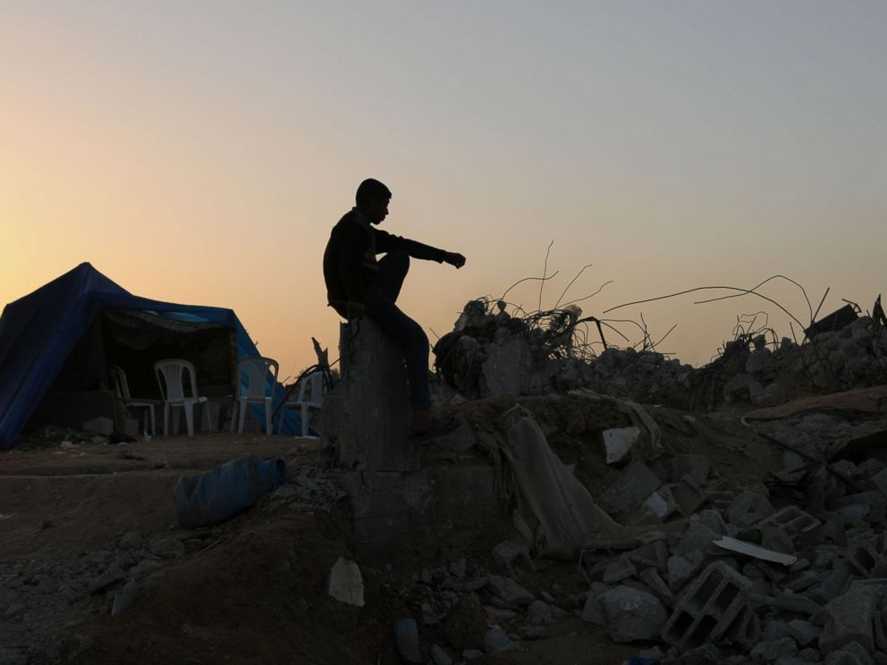 PHOTO: Fawzi Atiya al Samoonis house was destroyed during the Operation Cast Lead in Gaza, 2009.