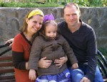 PHOTO: Kendra Skaggs and her husband with Russian orphan Polina