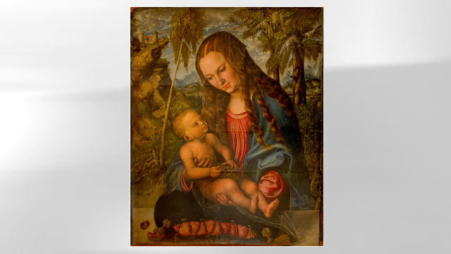 "PHOTO: The famous ""Madonna under the Fir Tree"" painting by Lucas Cranach the Elder has reappeared, decades after it went missing."