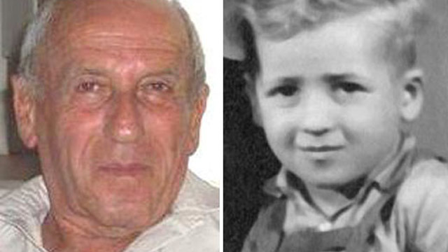PHOTO: Menachem Bodner, 72, is pictured in the present (left) and as a 5-year-old after World War II (right).