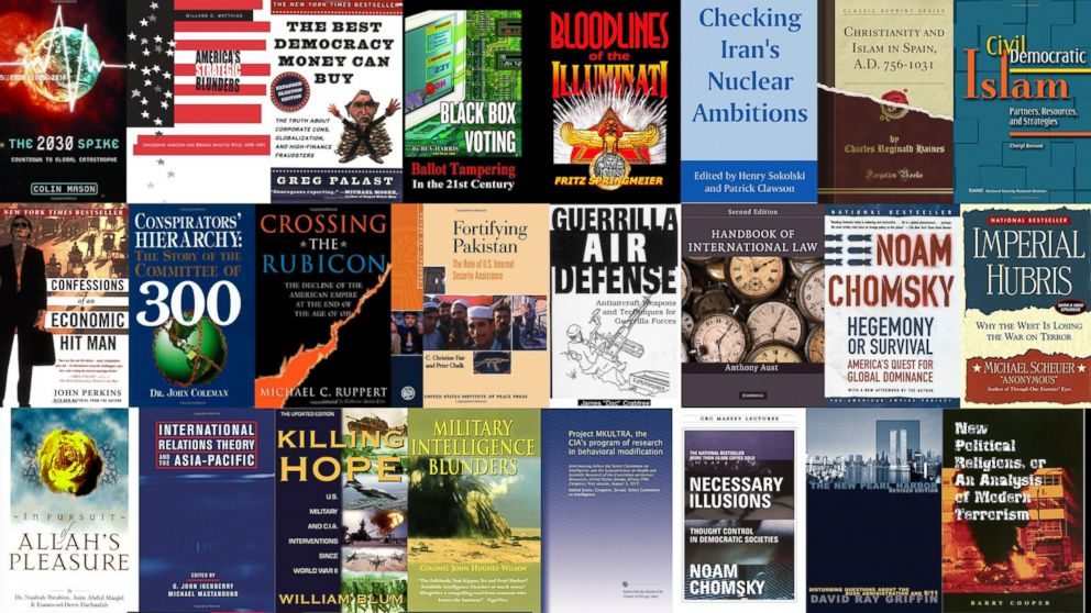 On May 20, 2015, the Office of the Director of National Intelligence released a list of 39 English-language books recovered during the raid that killed Osama bin Ladin.