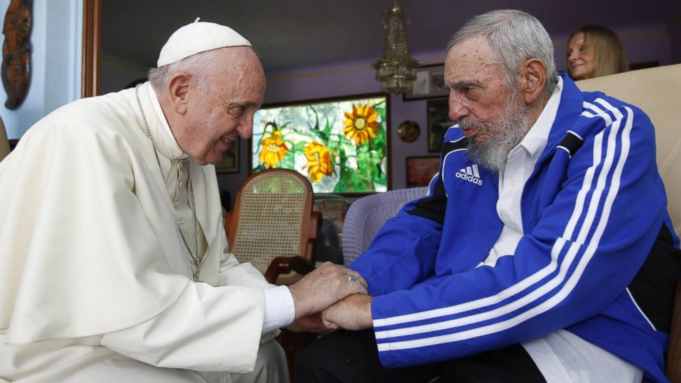 Image result for fidel castro papa francisco