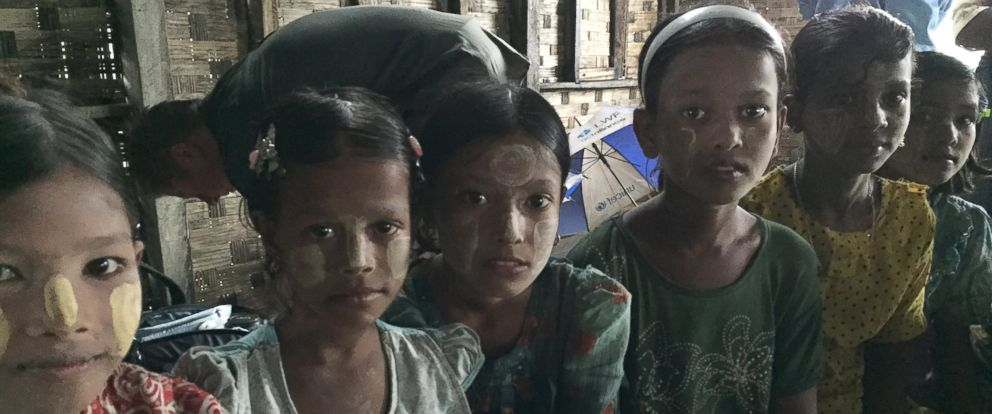 PHOTO: Young Rohingya girls living in Myanmar are pictured together here.