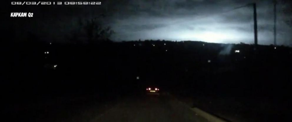 PHOTO: The blue pulsing lights that appeared above the southern town of Stavropol are as yet unexplained.