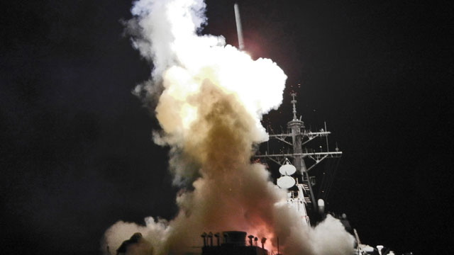 PHOTO First Photos of Tomahawk Launches from USS Barry