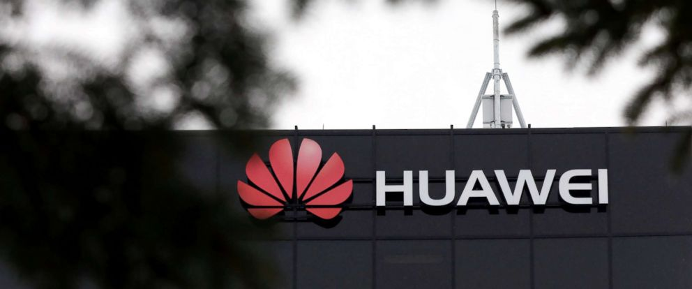 PHOTO: The Huawei logo is pictured outside their research facility in Ottawa, Ontario, Canada, Dec. 6, 2018.