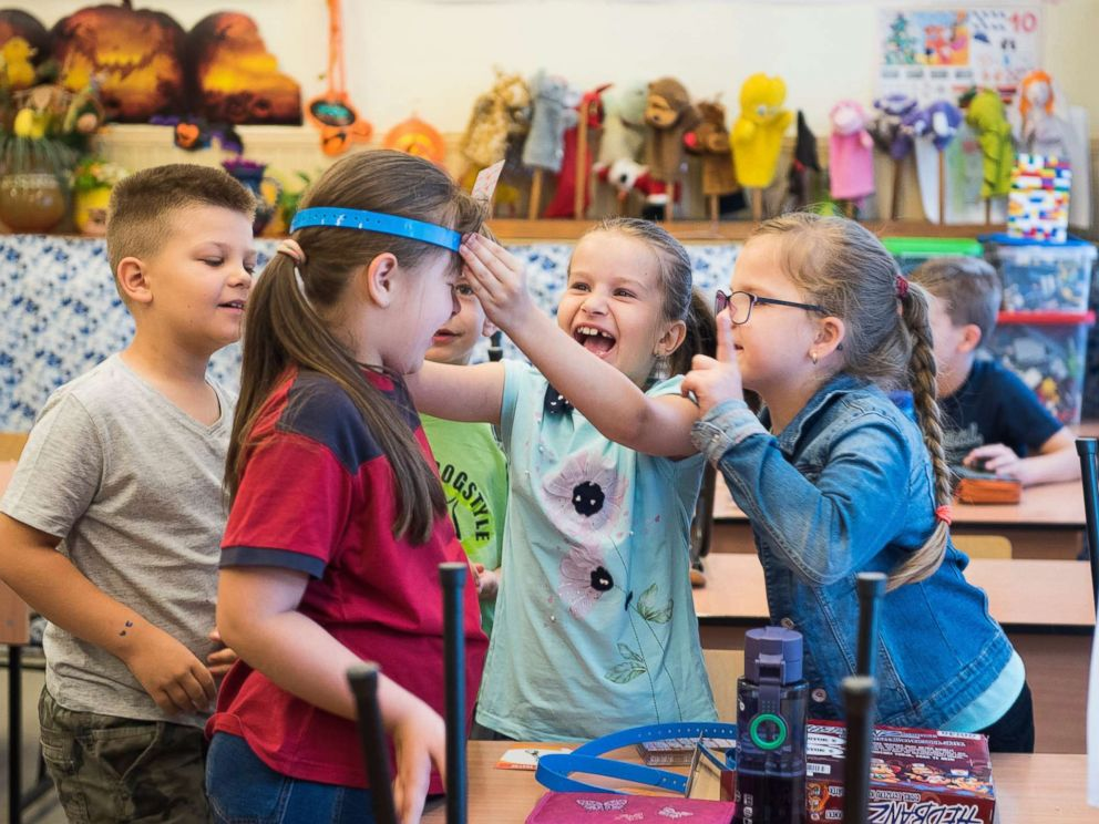 PHOTO: Pupils play in their classroom in a primary school in Nyiregyhaza, Hungary, June 15, 2018.