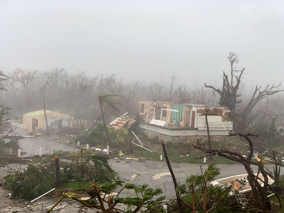 PHOTO: Damage from Hurricane Dorian is seen in Marsh Harbour, Sept. 1, 2019, in the Bahamas.