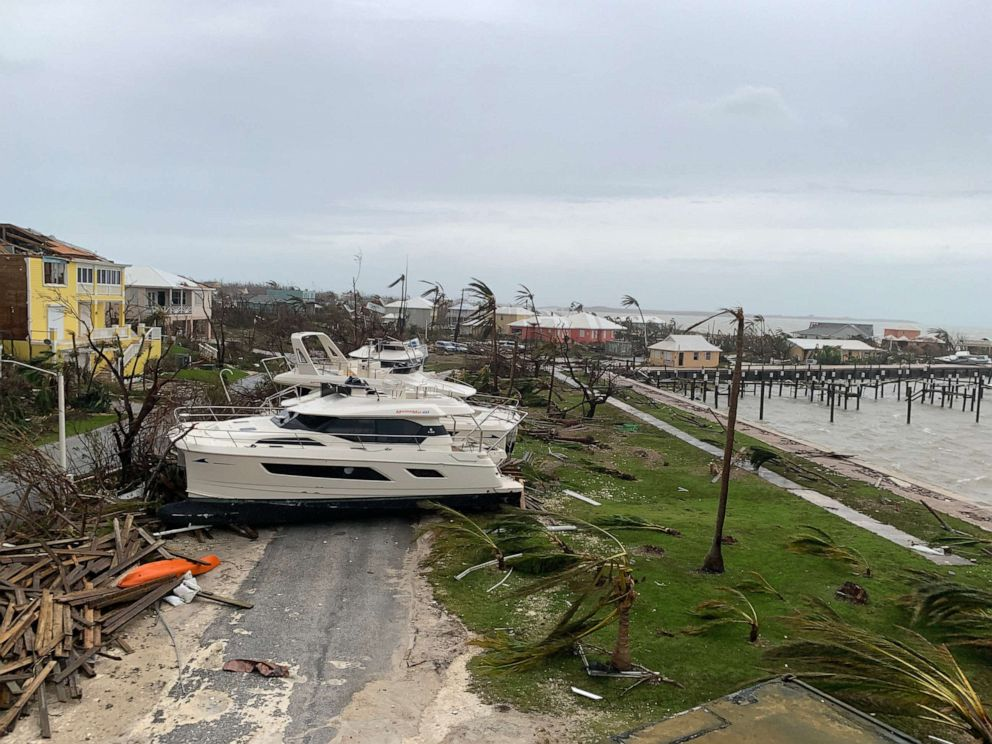 PHOTO: Damage from Hurricane Dorian is seen in Marsh Harbour, Sept. 3, 2019, in the Bahamas.
