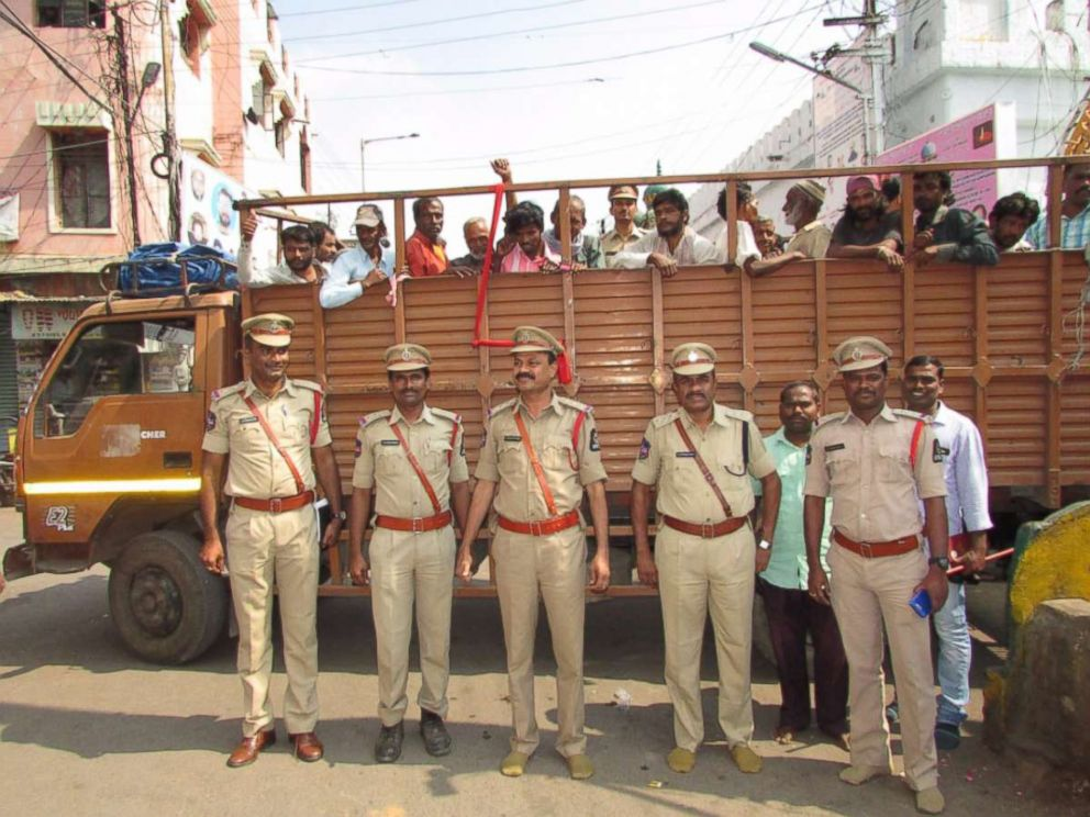 PHOTO: Police in Hyderabad, India, said on Nov. 8, 2017, that they had rounded up beggars in the city.