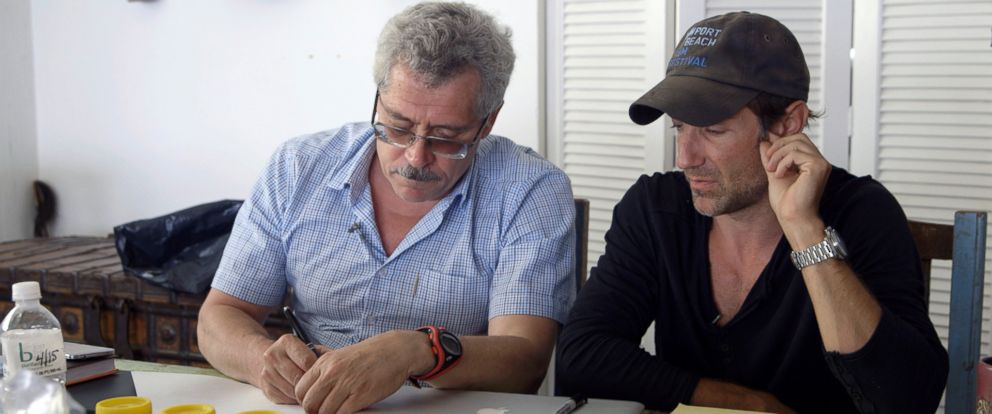 "PHOTO: Dr. Grigory Rodchenkov and filmmaker Bryan Fogel in a production still from the documentary, ""Icarus."""