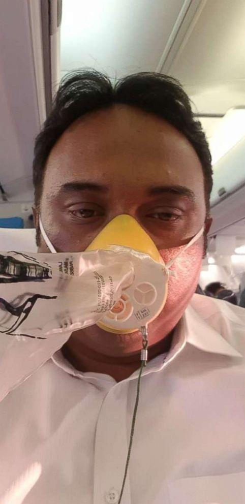 PHOTO: Oxygen masks were deployed on a Jet Airways flight, traveling from Mumbai to Jaipur, India, Sept. 20, 2018.