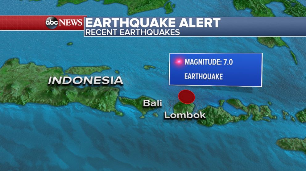 PHOTO: A magnitude 7.0 struck off the north coast of Indonesias Lombok island, Aug. 5, 2018.