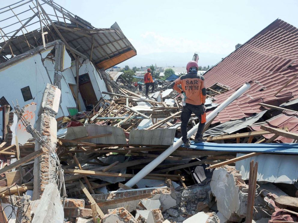 death toll from powerful earthquake and tsunami on indonesian island