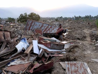 PHOTO: The view of the village of Petopo in Palu, Indonesia, Oct. 3, 2018, swept away by an earthquake and tsunami.