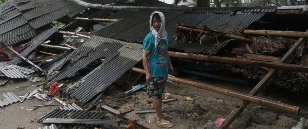 PHOTO: A man inspects his house which was damaged by a tsunami, in Carita, Indonesia, Sunday, Dec. 23, 2018.