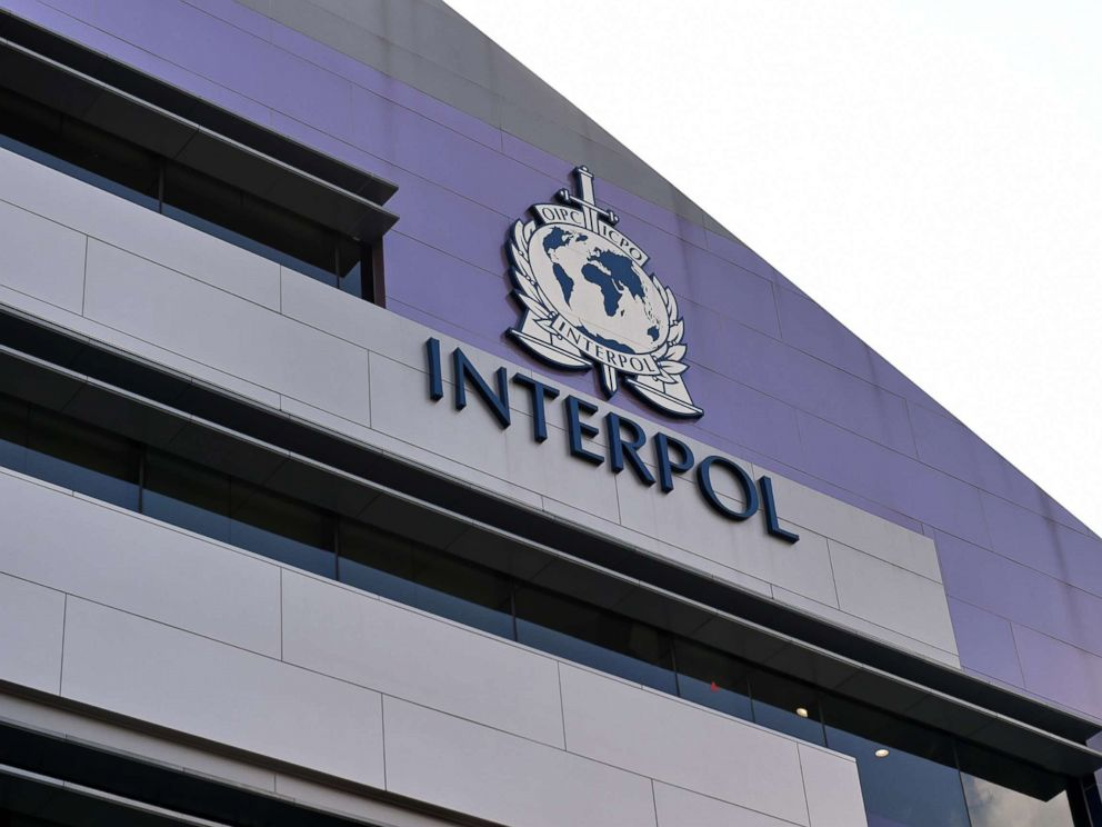PHOTO: A logo at the newly completed Interpol Global Complex for Innovation building is seen during the inauguration opening ceremony in Singapore on April 13, 2015.