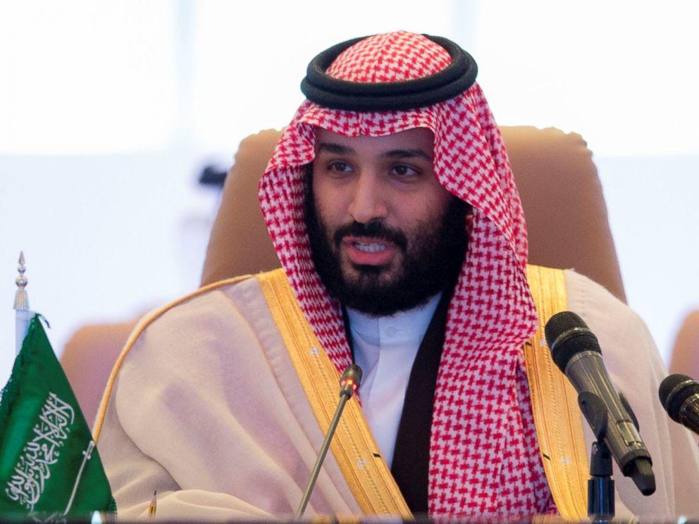 PHOTO:Crown Prince and Defense Minister of Saudi Arabia Mohammed bin Salman Al Saud speaks during Islamic Military Counter Terrorism Coalition (IMCTC) Defense Ministers Meeting at Al Faisaliah Hotel in Riyadh, Saudi Arabia on November 26, 2017.