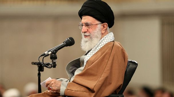 Iran's supreme leader blames US for protests over fuel costs as Mike Pompeo voices support for demonstrations
