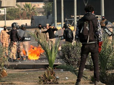 3 rockets fired into Baghdad's Green Zone as protests intensify