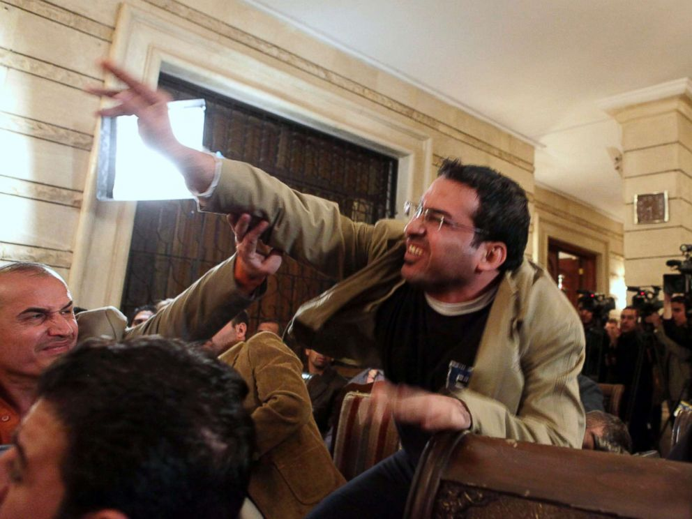 PHOTO:Iraqi journalist Muntadhar al-Zeidi throws a shoe at President George W. Bush during a new conference with Iraq Prime Minister Nouri al-Maliki in Baghdad, Iraq, Dec. 14, 2008.