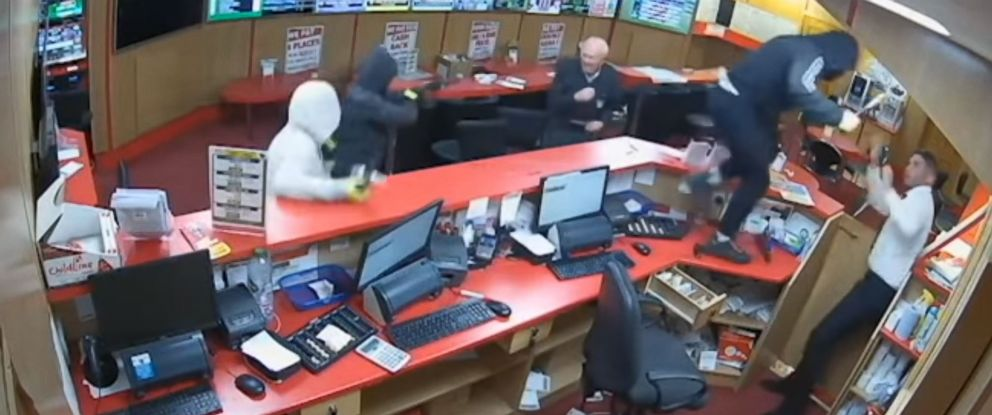 PHOTO: An 83-year-old man helped fight off armed robbers at a betting shop in Glanmire, Ireland, on Sep. 15, 2018.