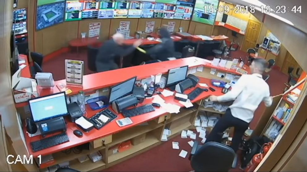 PHOTO: An 83-year-old man fought off armed robbers at a betting shop in Glanmire, Ireland, on Sep. 15, 2018.