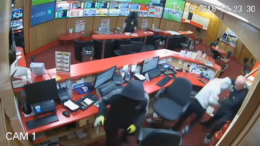 PHOTO: An 83-year-old man helped fight off robbers at a betting shop in Glanmire, Ireland, on Sep. 15, 2018.