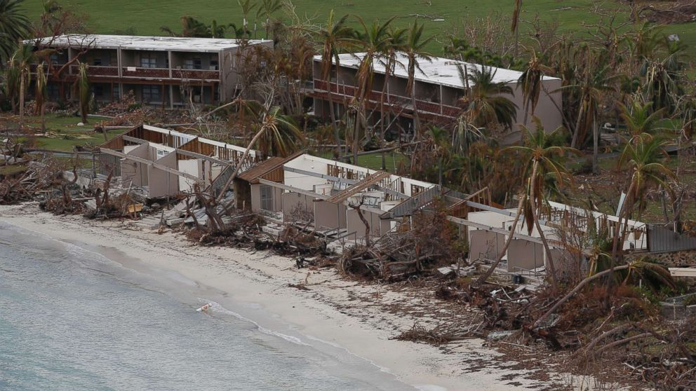 Damage sustained during Hurricane Irma is pictured on St. John in the Virgin Islands, Sept. 14, 2017.