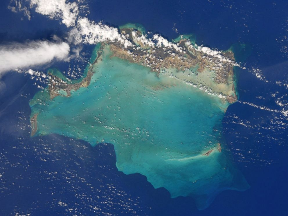 PHOTO: Photo taken from space by astronaut Randy Bresnik of the Turks and Caicos islands before Hurricane Irma.