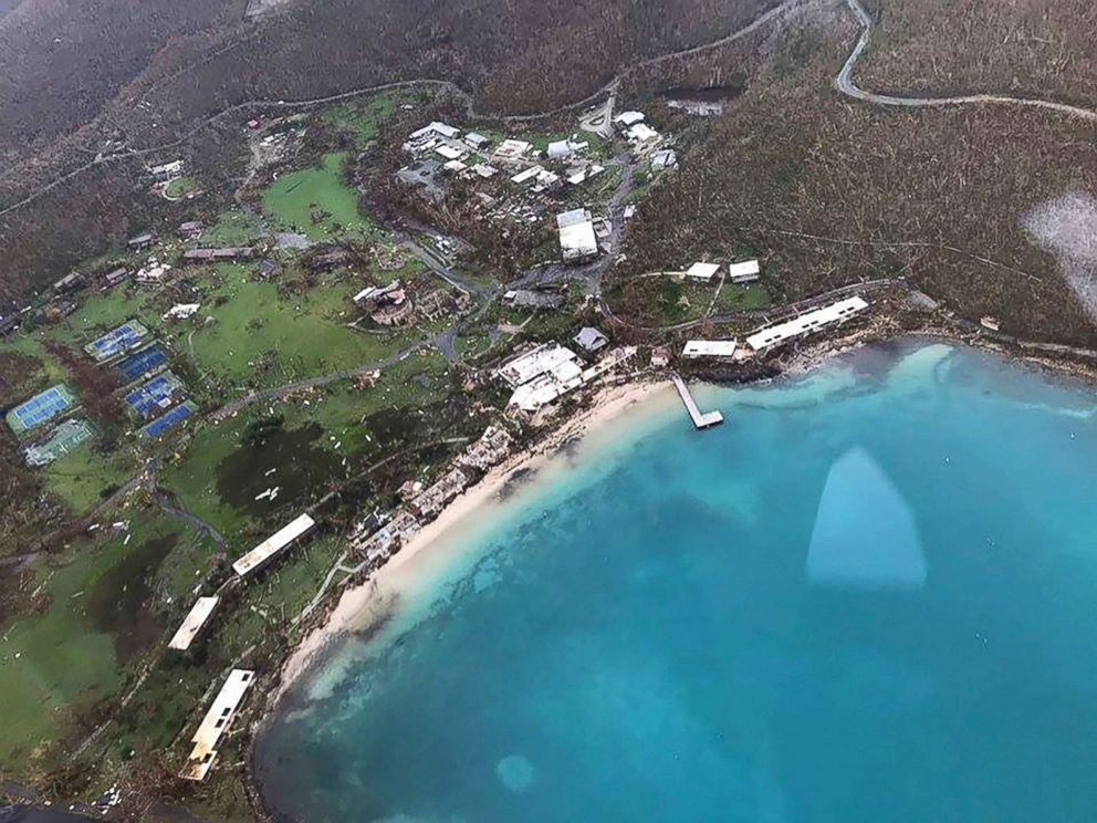 PHOTO: Storm damage in the aftermath of Hurricane Irma in St. Johns Caneel Bay in the U.S. Virgin Islands, Sept. 8, 2017.