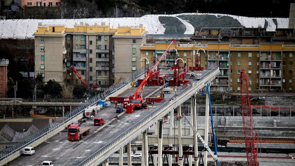 Environmental Health Essay A View Of Demolition Work On The Morandi Bridge In Genoa Italy Feb Essay My Family English also College Essay Paper Section Of Italys Collapsed Genoa Bridge Being Removed  Abc News English Essay Book