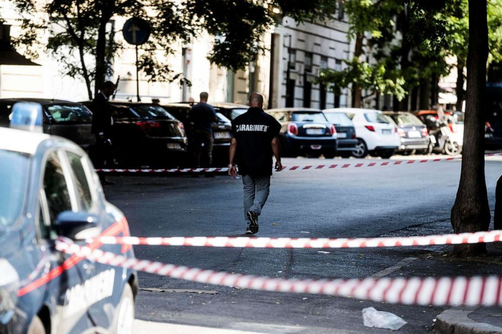 PHOTO: The scene where Mario Cerciello Rega, a 35-year-old deputy brigadier in Italys Carabinieri paramilitary police force, was killed in Rome on July 26, 2019.