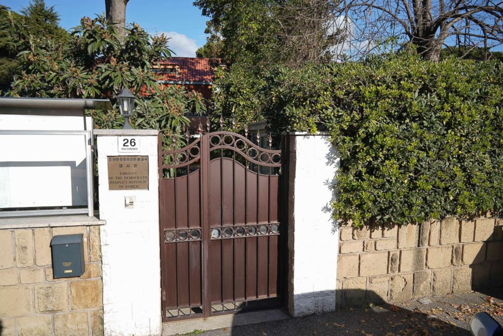 PHOTO: An external view of the North Korean embassy in Rome, Jan. 3, 2018.