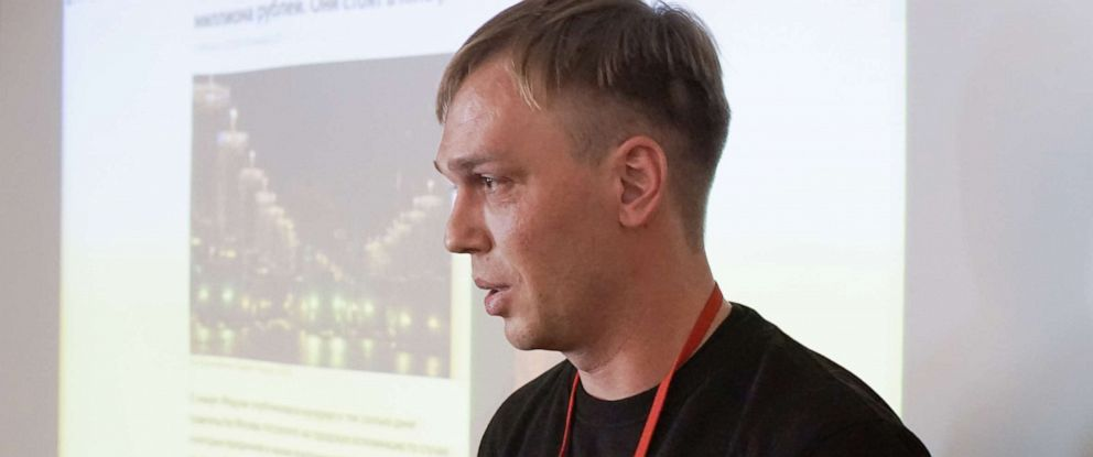 PHOTO: Russian journalist Ivan Golunov is seen in Moscow, Russia, Oct. 27, 2018 photo.