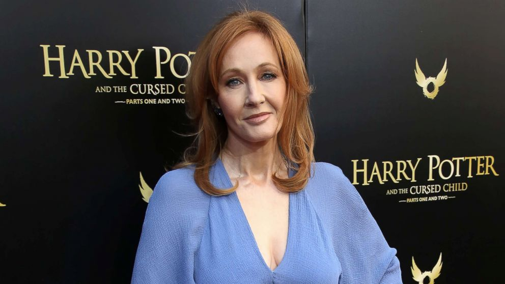 J.K. Rowling attends the Broadway Opening Day performance of 'Harry Potter and the Cursed Child Parts One and Two' at The Lyric Theatre, April 22, 2018, in New York.