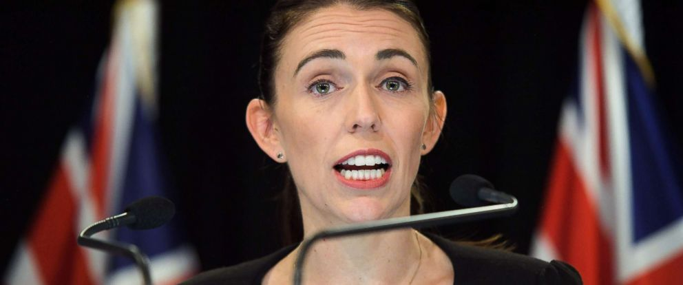 PHOTO: New Zealand Prime Minister Jacinda Ardern speaks to the media during a Post Cabinet media press conference at Parliament in Wellington on March 18, 2019.