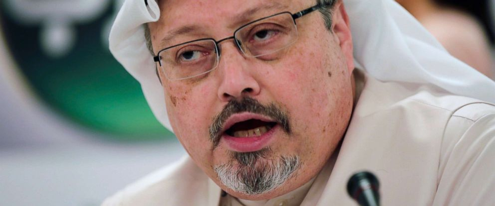PHOTO: This Feb. 1, 2015, file photo shows Saudi journalist Jamal Khashoggi in Manama, Bahrain.