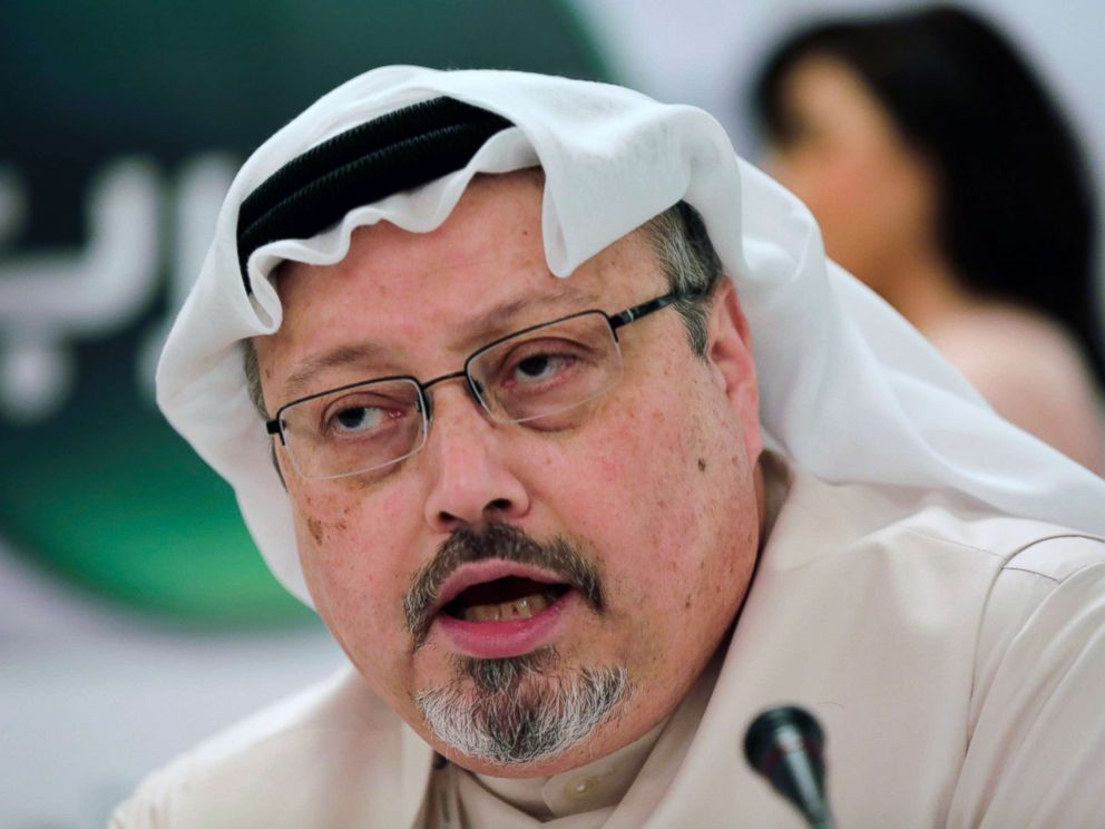Jamal Khashoggi in Manama Bahrain. Turkey claims that Khashoggi who wrote for The Washington Post was killed inside a Saudi diplomatic mission in Turkey