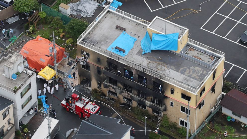 More than 20 feared dead in blaze at Kyoto animation studio that injured dozens more thumbnail