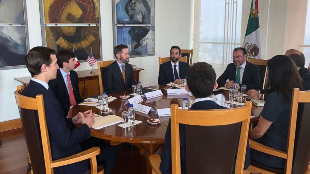 Jared Kushner, President Trump's senior adviser and son-in-law, meets with Mexican Foreign Secretary Luis Videgaray on Wednesday, March 7, 2018.