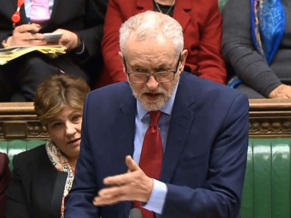 PHOTO: Opposition Labour party leader Jeremy Corbyn speaks in the House of Commons in central London, March 5, 2018.