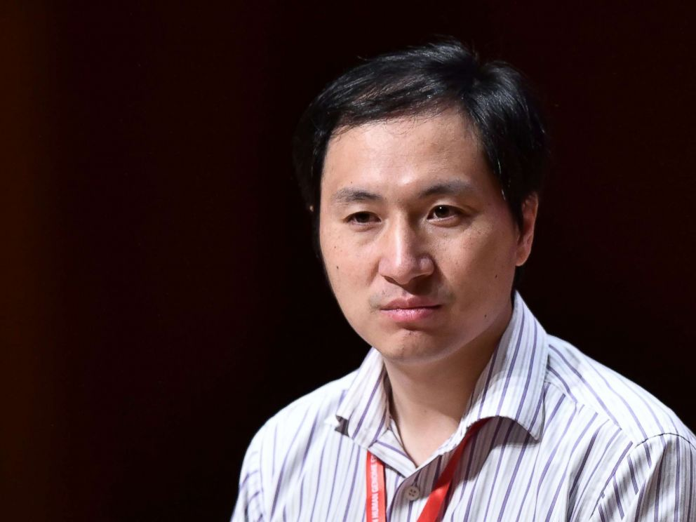 PHOTO: Chinese scientist He Jiankui speaks at the Second International Summit on Human Genome Editing in Hong Kong, Nov. 28, 2018.
