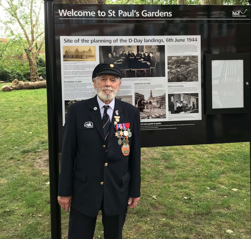 PHOTO: Veteran Jim Radford is pictured at St. Pauls Gardens in London in 2019.