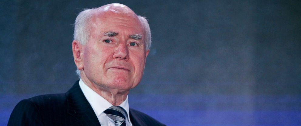 PHOTO: Former Australian Prime Minister John Howard speaks during A.H.Beard dinner, May 30, 2015, in Yantai, China.