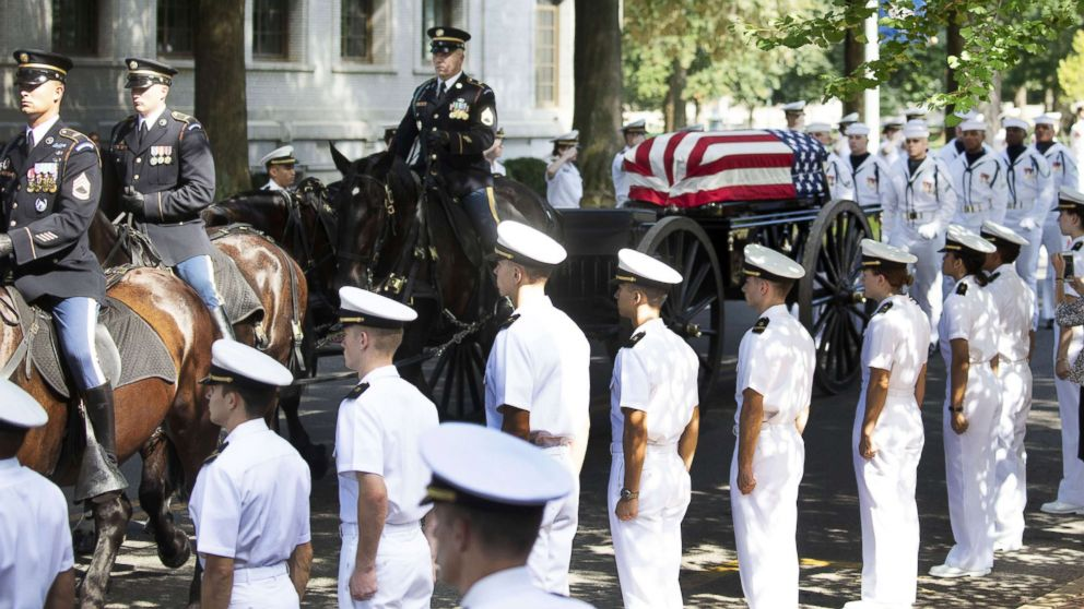 John McCain buried next to his best friend where his decades of public service began