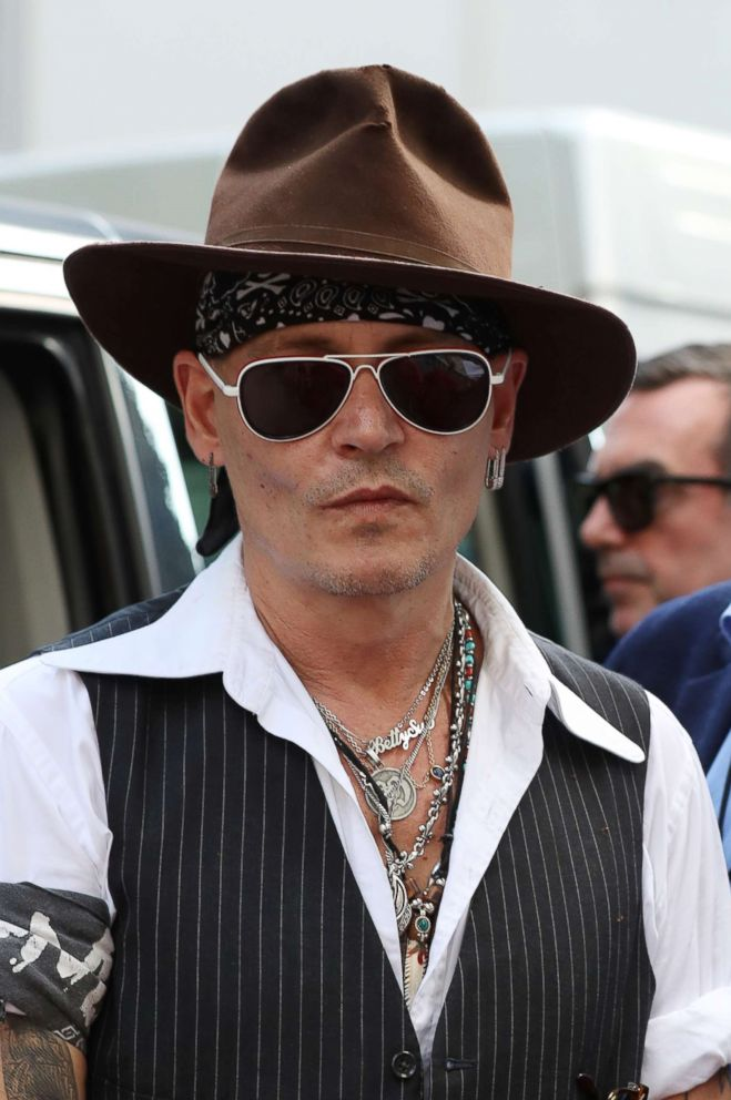 PHOTO: Johnny Depp seen leaving The Abbey Road Studios after watching a Paul McCartney secret gig on July 23, 2018 in London.