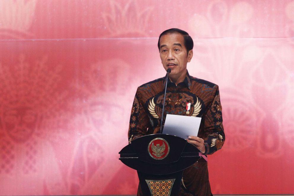 PHOTO:President Joko Widodo (Jokowi) opened the The 21st Jakarta International Handicraft Trade Fair (Inacraft) 2019, April 24, 2019.